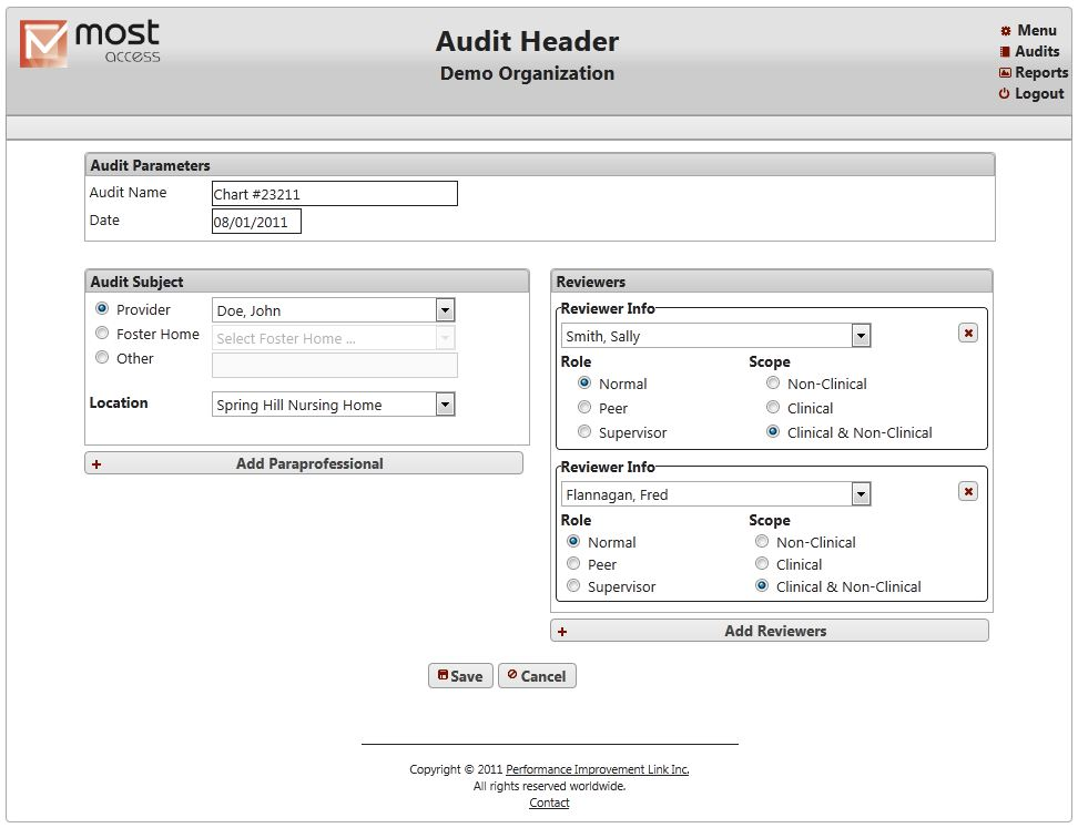Audit Header Screenshot